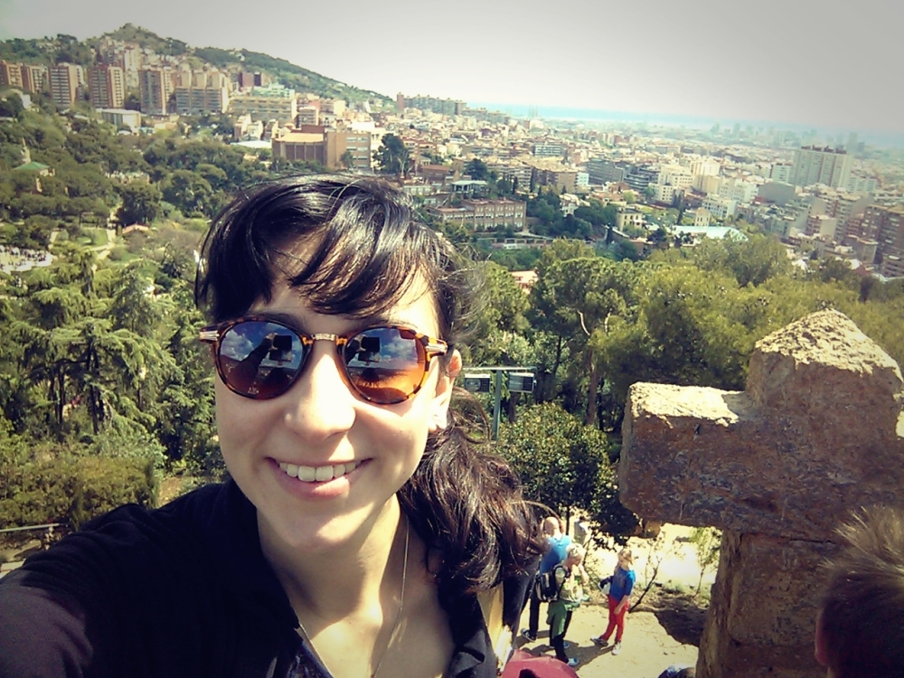 Guell Park with the beautiful view of the city