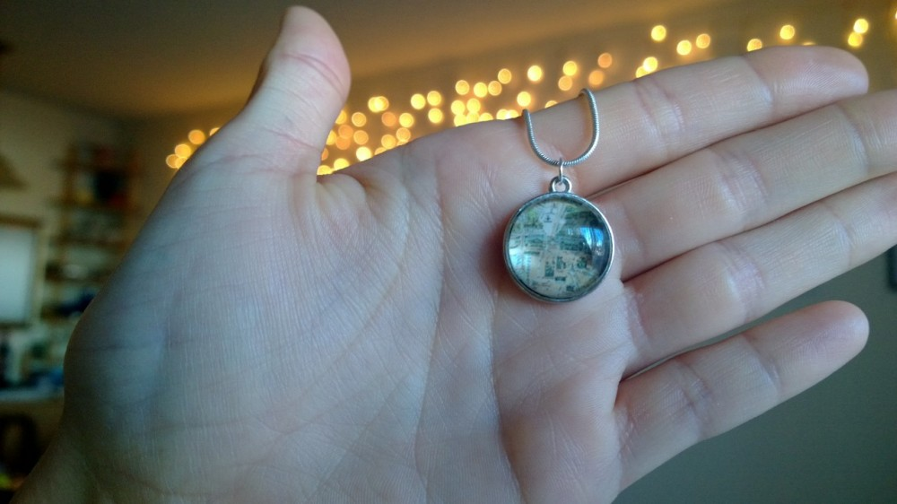 Paris pendant I made.  Deal with it, McWhorter.