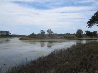 The UC Barbara lagoon.