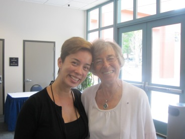 On of my group facilitators, Julie (left) and the seminar co-convenor Lorraine (right). Beautiful and bright people.